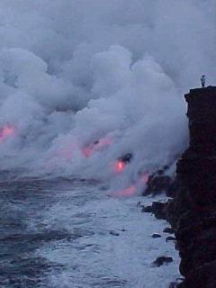Experience creation of new earth!  Watch Hot Lava pouring into ocean. 30 min hike from Hale Lalala!
