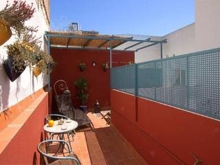 Vidrio Terrace. 1 bedroom with terrace in Santa Cruz, Sevilla