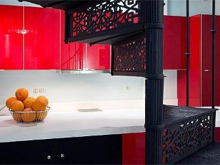 Modern kitchen equipped for self-catering.