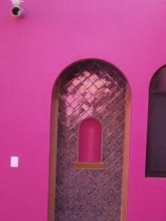 Door to 2nd bedroom with talavera tiles
