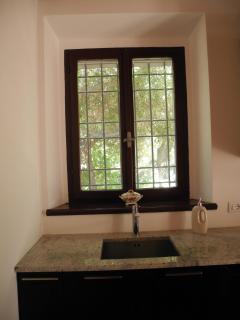 Kitchen Sink and Window with Garden View