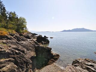 This beautiful pocket beach with tide pools to explore is in front of the property.