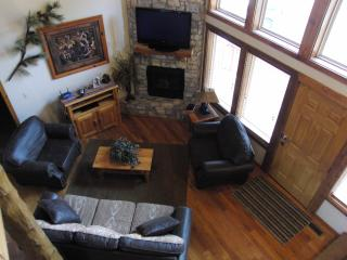 Vaulted Ceilings, Gas Fireplace, TV and  Cable