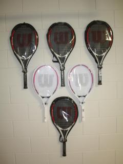 Tennis rackets for floodlit tennis courts