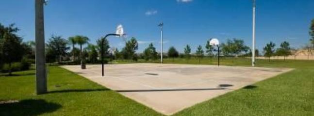 Floodlit basket ball court