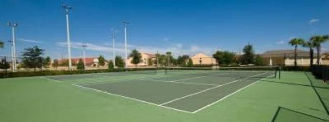 Floodlit tennis courts