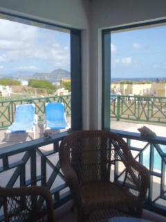 View from inside verandah to St Kitts