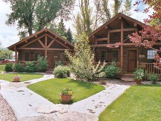 The Madison and Yellowstone cabins are next to each other on the property