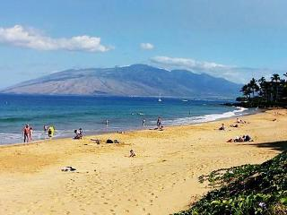 Best swimming beach in Maui (Kamaole II) is across the street