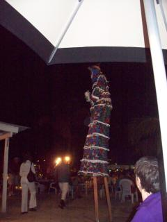 Don't miss the Mocko Jumbies at a Caribbean Buffet.  We like The Palms. It's fun and close by.