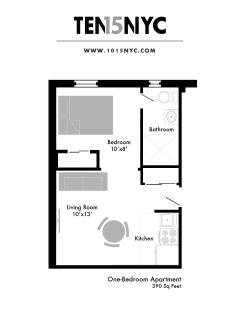 Floor plan map - ONE BEDROOM APARTMENT