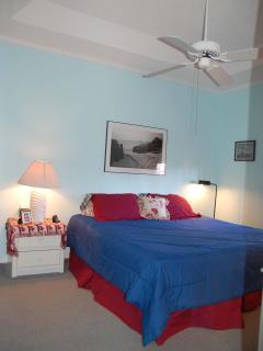 Master Bedroom- king bed, lots of room in dresser to unpack.