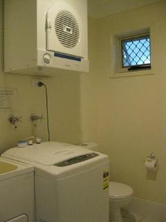 Laundry plus toilet facilities downstairs