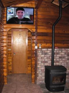 'Smart' TV and pellet stove