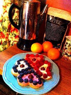 Is that a percolator? Patachou Coffee? and Homemade Heart Cookies? Yum!