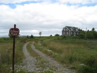 Orchard Point is located in a secluded spot at the end of a private drive.
