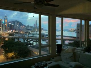 Sunset view from living room