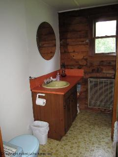 Full bathroom with hot and cold water.