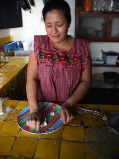 Our cook, making tortillas