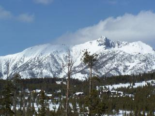 View of Spanish Peaks from wrap around deck