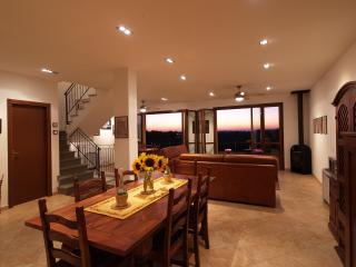 With both tables, the dining area can accommodate over 11 guests