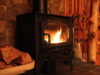 Gather around the viewing woodstove on a chilly fall or winter night.