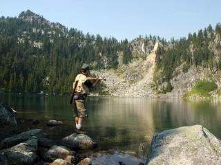 Fishing in our many lakes and rivers