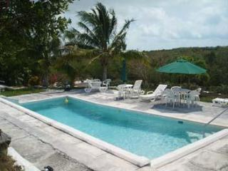 Exuma Vacation Cottages with waterfront dock, kayaks and 30ft heated pool.