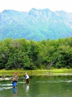 Incredible salmon fishing on nearby rivers with glacier views!