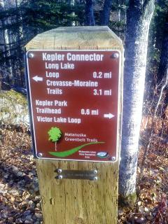 Maps guide the way along our well  marked and maintianed hiking trails just out our door