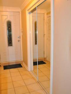 Huge ward-robe (behind sliding mirror doors) next to the master bedroom