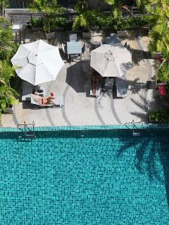 pool area from above