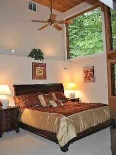 First Master Bedroom Suite with Cathedral Ceilings and Master Bath