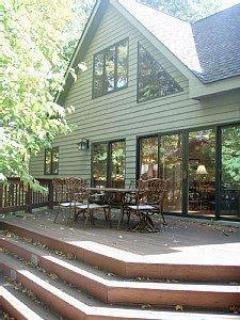 Very Large Deck with Grill with Patio Furniture - Perfect for a BBQ