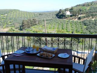 Peaceful relaxation with views towards the olive groves