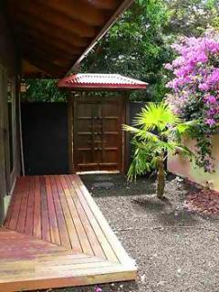 Deck in courtyard