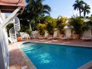 Pool dining area, Single family residence. Pool and property is not shared.