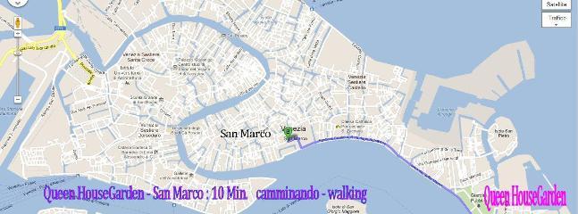 Map   Queen House Garden   Venice Apartment