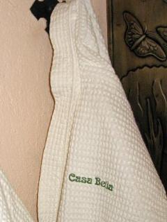 Monogrammed cotton bathrobes