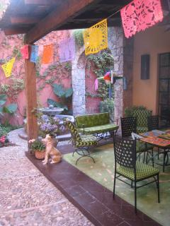 Patio Decorated for a Fiesta