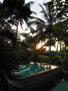 Sunset view at the pool