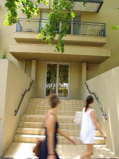 Front steps of 12 Acland St, St Kildat