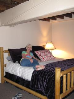 owner Nettie Wood enjoying the new loft