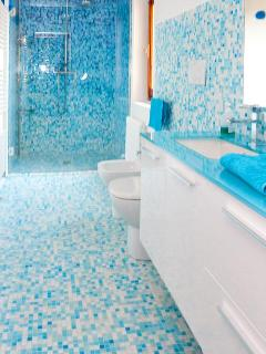 Blue Mosaic Bisazza Bathroom