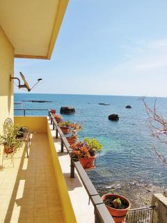 Balcony with beautiful view of Mediterranean Sea