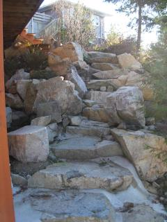 Rock Stairway to Access Cottage