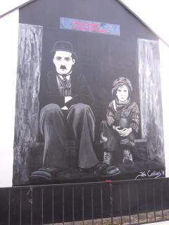 Wall mural of Charlie Chaplin Waterville