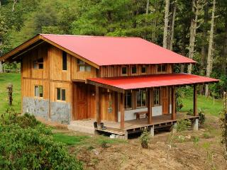 Mount Totumas Cloud Forest; Cabins in wilderness, Volcan