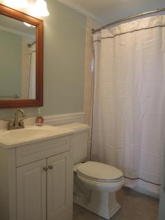 Bathroom freshly painted with excellent light and ventilation.