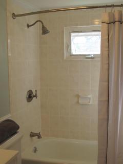 Updated bath/shower combo.